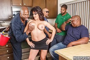 Massive tits exotic MILF slut ruined by a throbbing black boner