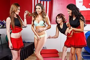 Latina cheerleader gets humiliated by her gorgeous girlfriends