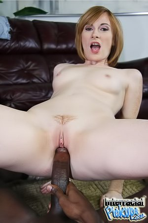 Short-haired redhead in uggs getting fucked by a huge black cock